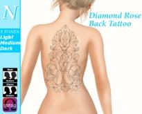 -Natti- Diamond Rose Back Tattoo (Omega) Unisex