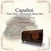 Time Flies Steampunk Music Box