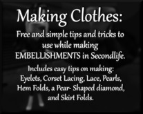 C* Making Clothes - Free Tips and Tricks 2 - Embellishments