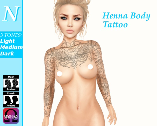 -Natti- Henna Body Tattoo Omega