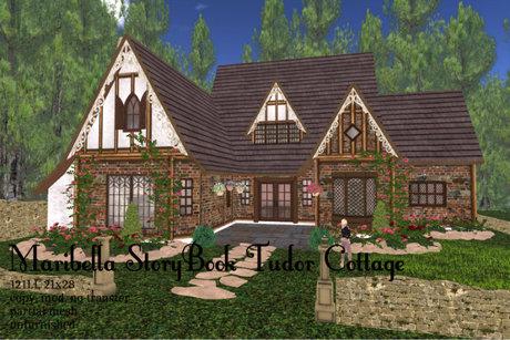 Maribella Storybook Tudor Cottage(123LI, 21x28)