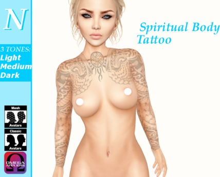 -Natti- Spiritual Body Tattoo (Omega) Unisex