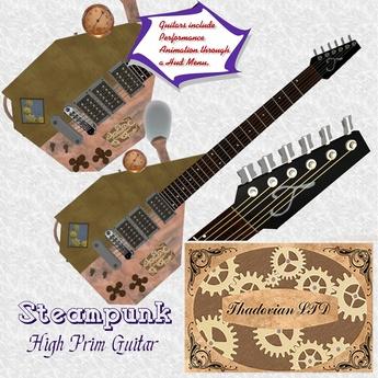 Thadovian Steampunk Guitar - Brass