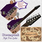 Thadovian Steampunk Guitar - Purple