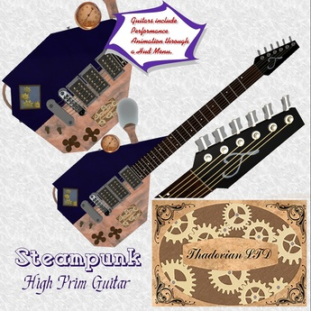 Thadovian Steampunk Guitar - Blue