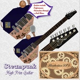 Thadovian Steampunk Guitar - Blue