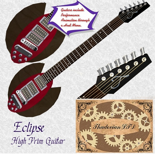 Thadovian Eclipse Guitar - Red
