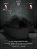 Bleich - Mesh Unisex Dragon Sandals - Black