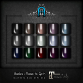Adoness: Maitreya Nails: Basics: Mono to Goth