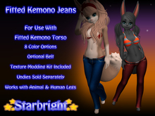 Fitted Kemono Jeans