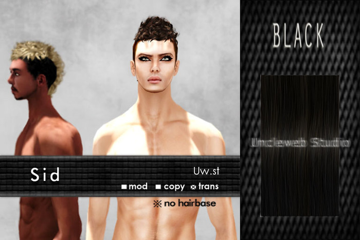 Uw.st   Sid-Hair  Black