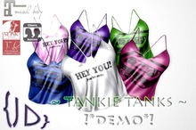 {JD} Tankie Tank Tops - *DEMOS*