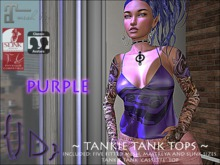 {JD} Tankie Tank Tops - Cassette -Purple