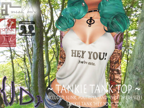 {JD} Tankie Tank Tops - Hey You! you're cute
