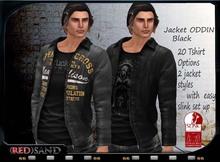 (red)sand jacket ODDIN black  easy slink