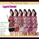 T7E: Layered Sweater - Hearts