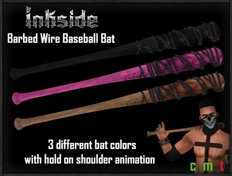 Inkside - Barbed Wire Baseball Bat