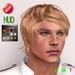 """eDeLsToRe man mesh hair """" Zatto """" all 12 color HUD incl edit version (Special Rigged Fitted Mesh Hair)"""