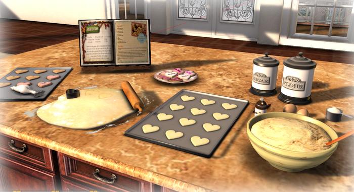 Valentine Cookie Preparation Mesh
