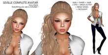 Dollarbie X7 - Complete Avatar Female + Outfit (Skin + Shape + Hair + Eyes + Mesh Outfit & Shoes + Facelight)