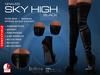 GRAVES Sky High - Boots - Black - Leather / Latex Overknee / Thigh High - Maitreya, Belleza, Slink