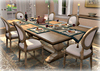 Dinner Party Dining Set for 6: Trestle and White Louis XVI BOX