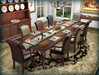 Dinner Party Dining Set for 8: Louis XV Leather Mesh