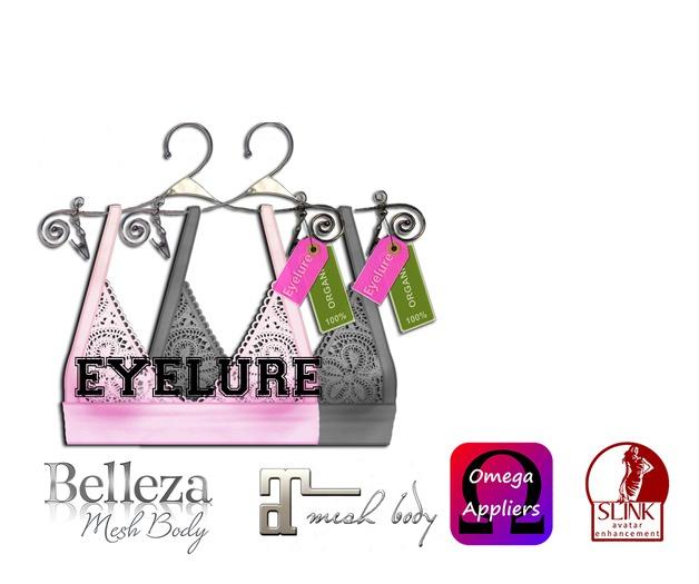 Eyelure Lace Halter Top  PinkGrey - 2 pack