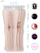 GAWK! White Striped Nylon Tights| BoM & Appliers for Maitreya, Slink Physique, TMP & Omega System