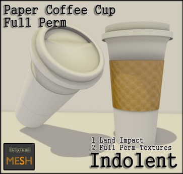 [INDO] Paper Coffee Cup - Full Perm 1LI
