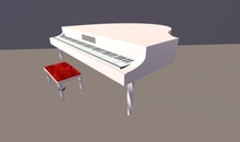 Piano in white with animation