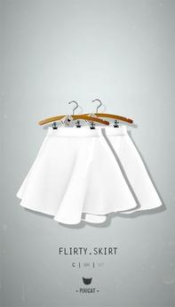 -Pixicat- Flirty Skirt (White)
