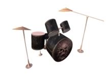 Animated Black Drum + Sticks