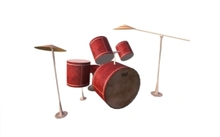Animated Red Drum + Sticks