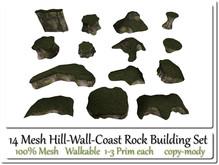 14 Mesh Hill-Wall-Coast Set 1-3 Prim each copy-mody