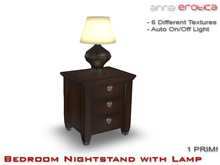 Anna Erotica - Bedroom Nightstand with Lamp - 1 Prim!