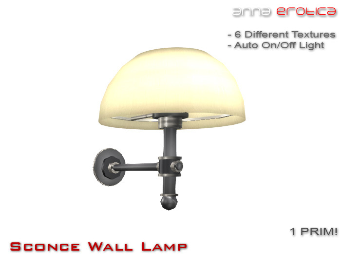 Anna Erotica - Sconce Wall Lamp - 1 Prim