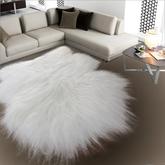Carpet White fur