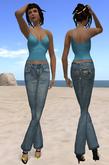 """"""" A la Folie"""" top et pant jeans"""