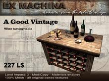 A Good Vintage - Wine Table