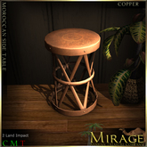 =Mirage=Moroccan Metal Side Table - Copper