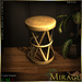 =Mirage=Moroccan Metal Side Table - Brass