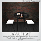 [Home Goods] - Java Chat Table for Two