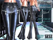 Bella Moda: Assetto Black Attitude Pants. 5 Standard Sizes - FULL