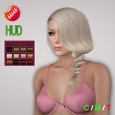 """eDeLsToRe woman mesh hair """" Sole """" incl 12 color HUD ( Special Rigged Fitted Mesh Hair )"""