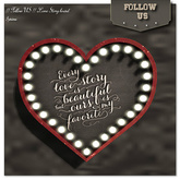 !! Follow US !! LOVE Story board - Limited gift