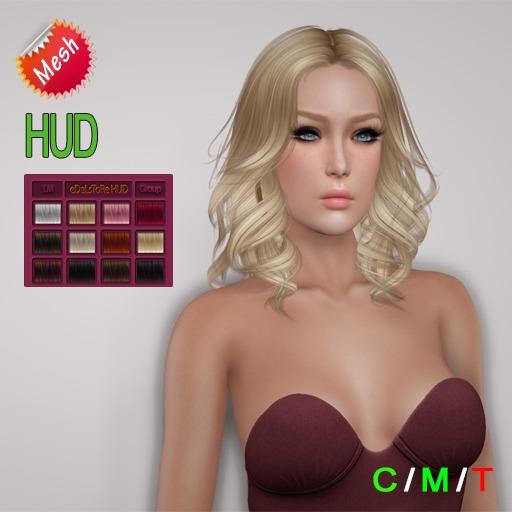 "eDeLsToRe woman mesh hair "" Faith "" all colors (HUD)  inkl. mode version"