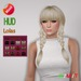 "edeLsToRe woman mesh hair "" Mia "" all colors (HUD) v2 BOX"