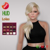 "edeLsToRe woman mesh hair "" Hana "" all color HUD (Special Rigged Mesh Hair)"
