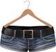 Blueberry - Lola Mesh Denim Shorts - Maitreya Lara, Belleza, Slink Physique Hourglass - Blue